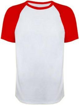 Men-Raglan white-red | S