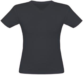 V-Neck T-Shirt Frauen schwarz | S