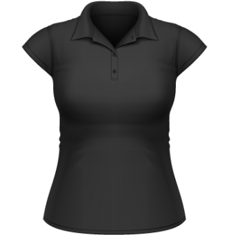 Heavymill Polo Frauen schwarz | S