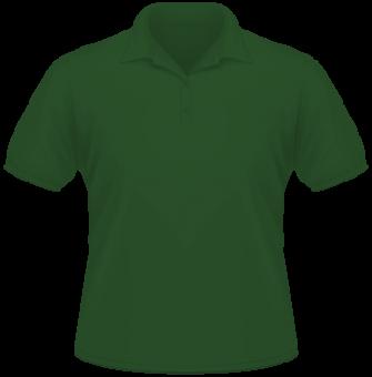 Men Heavy Polo dunkel grün | M