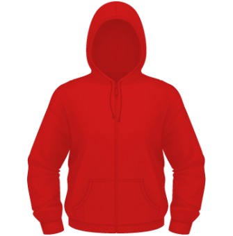 Kinder Zipper Hoodie rot | 140