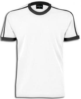 Men-Ringer T-Shirt white-black | S