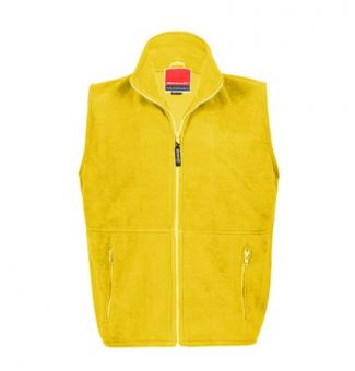 Bodywarmer Fleece Yellow | M