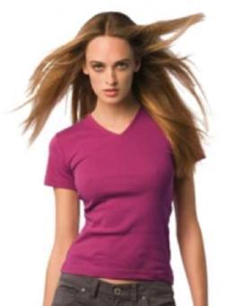 V-Neck T-Shirt Frauen