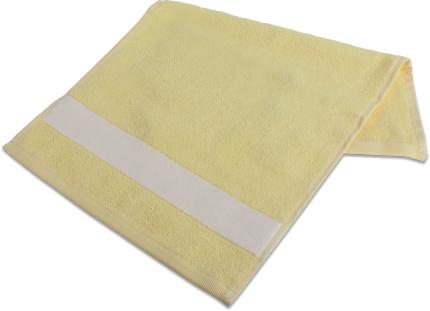 Badetuch mit Bordüre  70 x 140cm Gelb
