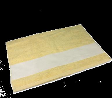 Gästetuch mit Bordüre 30 x 50cm Gelb