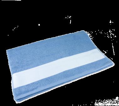 Gästetuch mit Bordüre 30 x 50cm Hellblau