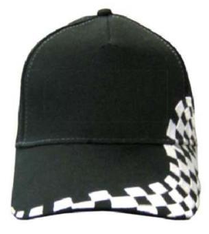 Rallye-Cap schwarz-weiß | Klemmverschluss