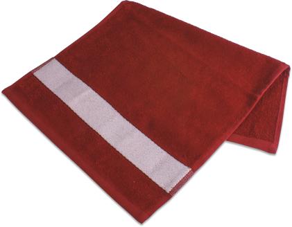 Badetuch mit Bordüre  70 x 140cm Rot