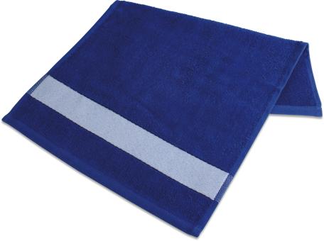 Badetuch mit Bordüre  70 x 140cm Royalblau