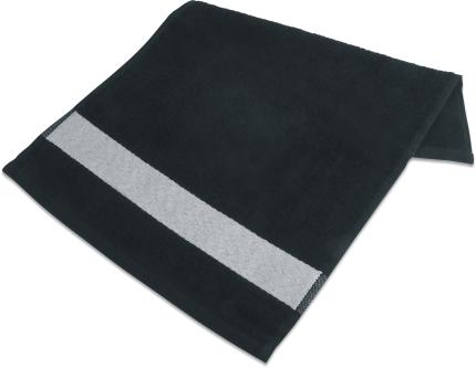 Badetuch mit Bordüre  70 x 140cm Schwarz