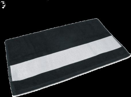 Gästetuch mit Bordüre 30 x 50cm Schwarz
