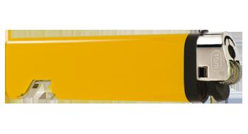 Feuerzeug Flaschenöffner gelb | uni