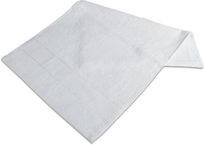 Handtuch mit Bordüre  50 x 100cm Weiss