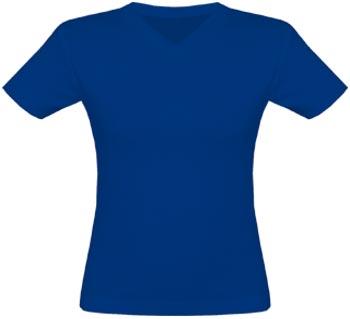 V-Neck T-Shirt Frauen navy | L