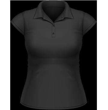 Heavymill Polo Frauen schwarz | M