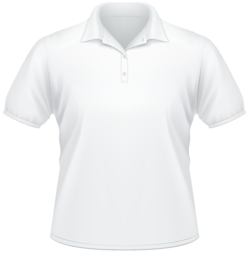 Polo Shirt BIG weiß | S