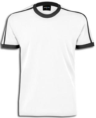 Men-Ringer T-Shirt white-black | XXL