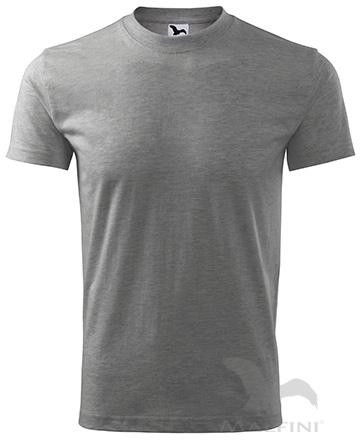 Classic T-shirt unisex dunkelgrau melliert | 4XL