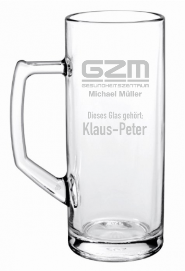 Bierglas | Bierseidel 0,5 Liter graviert