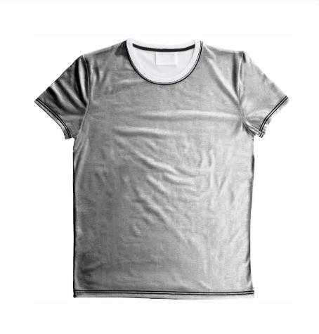 Shirt All Over bedruckt Kragen weiß | M