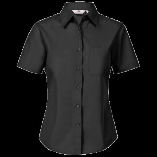 Bluse Kurzarm Popeline Farbe schwarz