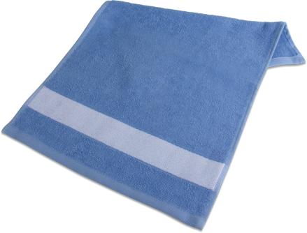 badetuch mit bord re 70 x 140cm hellblau selber gestalten. Black Bedroom Furniture Sets. Home Design Ideas