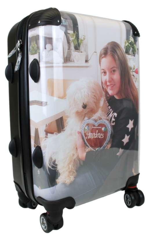 koffer mit foto oder logo selber gestalten und bedrucken lassen. Black Bedroom Furniture Sets. Home Design Ideas