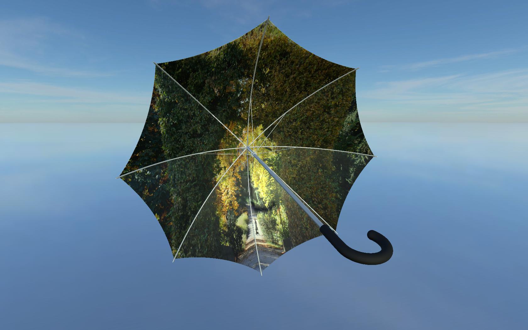 Regenschirm All-over-Print innen bedruckt