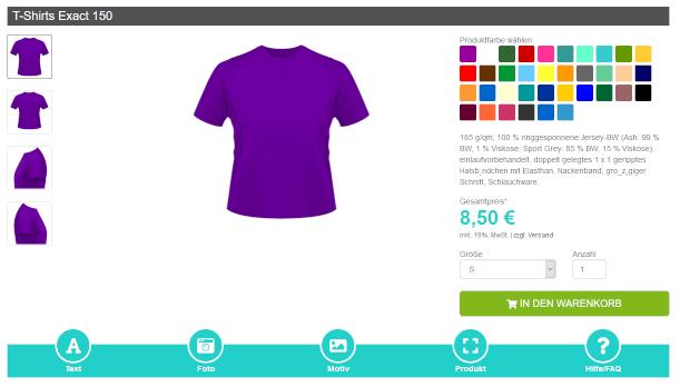 low cost 6aaed 7ee94 Tshirt online selber gestalten mit Text, Foto oder Logo | T ...